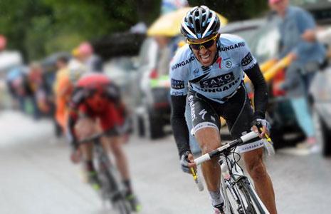 Alberto Contador in action