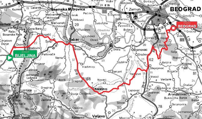 luka beograd mapa Banja Luka – Beograd II | BiciSvet.com luka beograd mapa