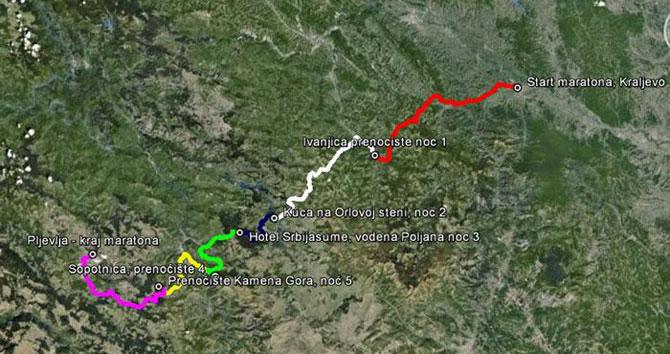 MTB maraton Kraljevo-Pljevlja – opis etapa