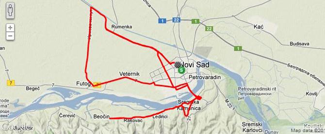 futog mapa Novembarski foto trening | BiciSvet.com futog mapa